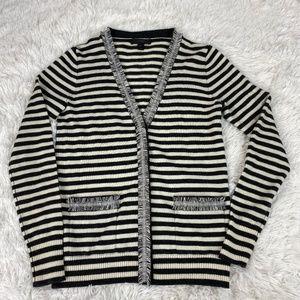 JCREW Striped Harlow cardigan sweater XXS